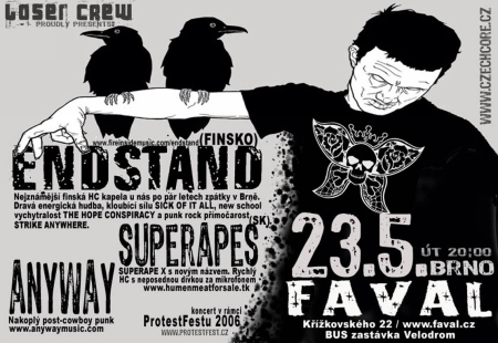 ENDSTAND (FIN), SUPERAPES (SK), ANYWAY (CZ)