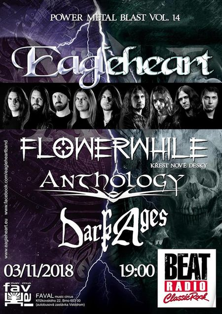 EAGLEHEART (15 let!), FLOWERWHILE, ANTHOLOGY (SK), DARK AGES (ITA)